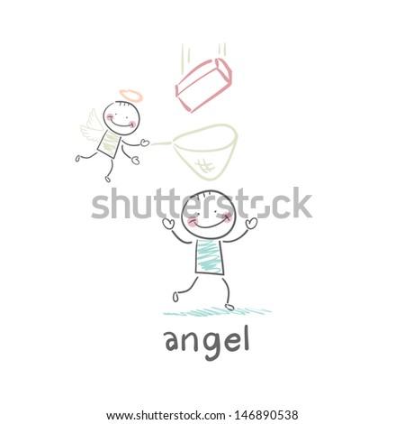 angel - stock vector