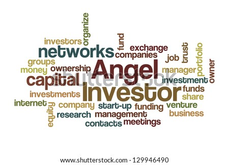 Angel Investor Word Cloud - stock vector