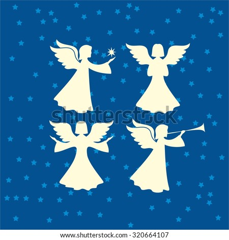 christmas angels silhouette christmas angel silhouette stock images royalty free 5038