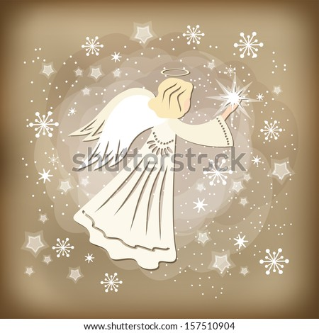 Angel. Vector illustration - stock vector