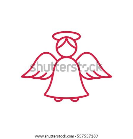 Angel Wing Fly Cupid Minimalistic Xmas Stock Vector 557557189 ...
