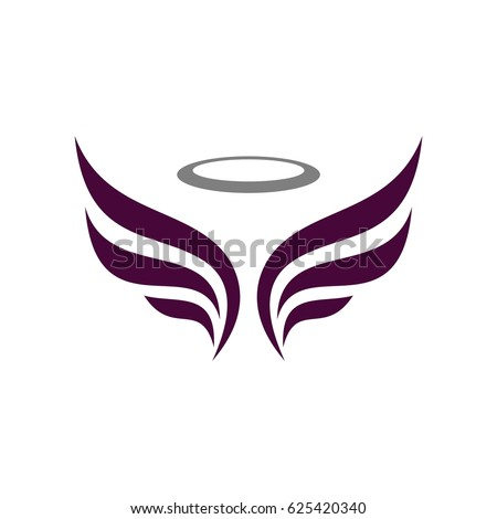 Angel Wing Logo Template Stock Vector 625420340 - Shutterstock