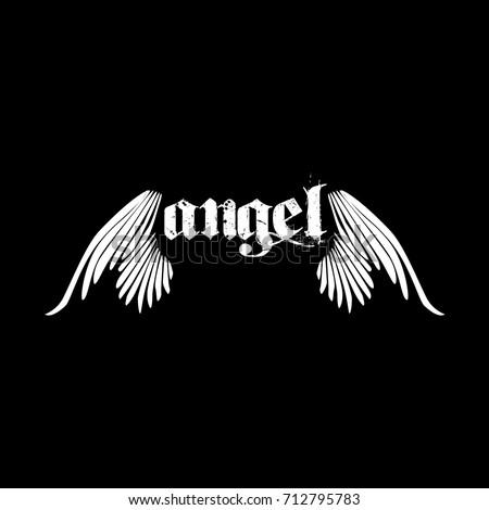 angel wings logo  Angel Wings Logo Stock Vector (Royalty Free) 712795783 - Shutterstock