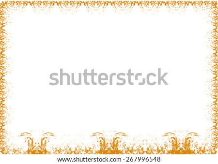 Angels with umbrella frame - stock vector