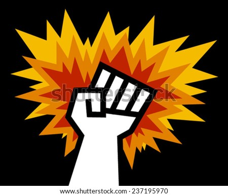 anger fist - stock vector