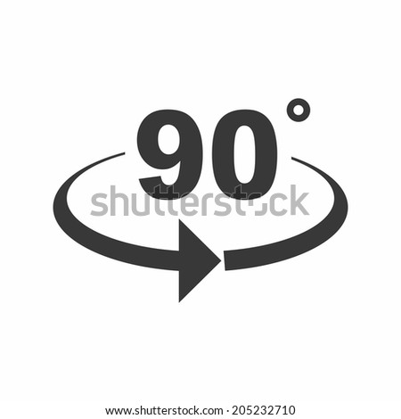 Angle 90 Degrees Sign Icon Geometry Stock Vector 205232710