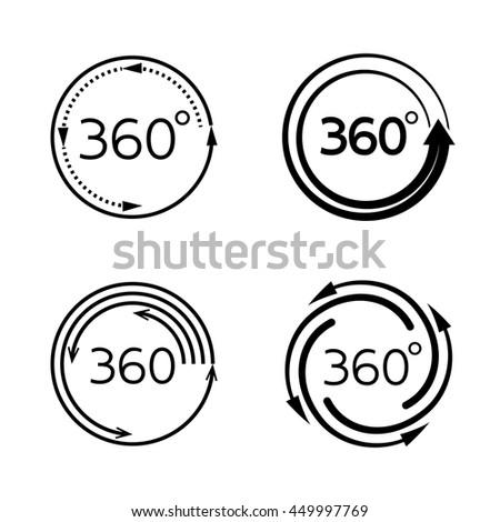 Angle 360 Degrees Symbol Stock Vector 449997769 Shutterstock