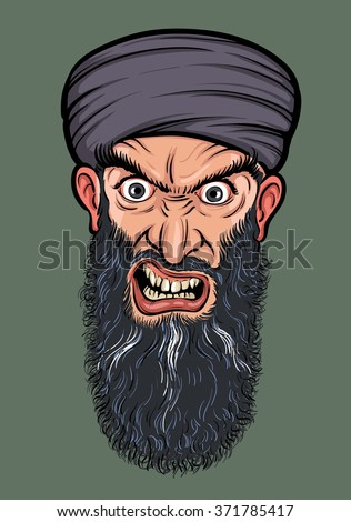 angry bearded man in turban