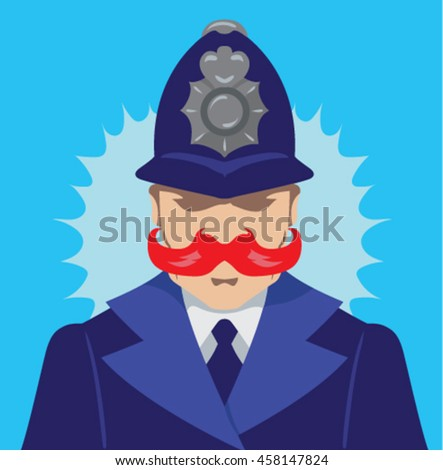 Angry Bobbie - stock vector