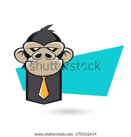 angry business ape - stock vector
