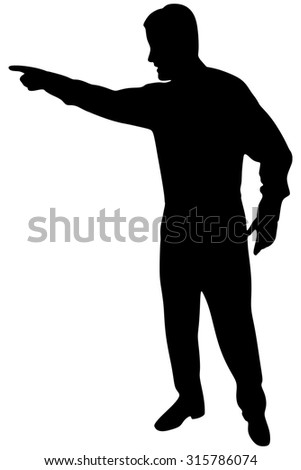 angry business man in a suit pointing with his finger