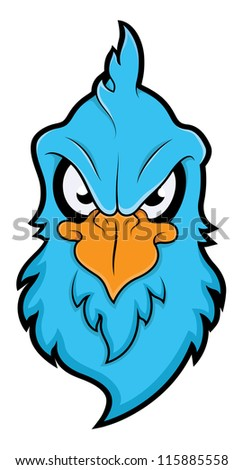 Angry Chicken - stock vector