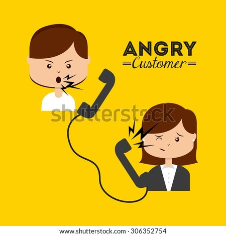 angry customer design, vector illustration eps10 graphic  - stock vector