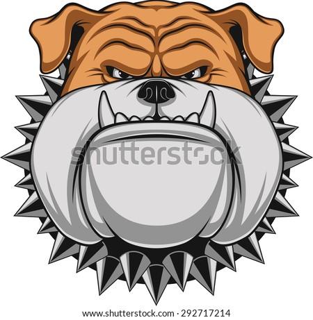 Angry dog - stock vector
