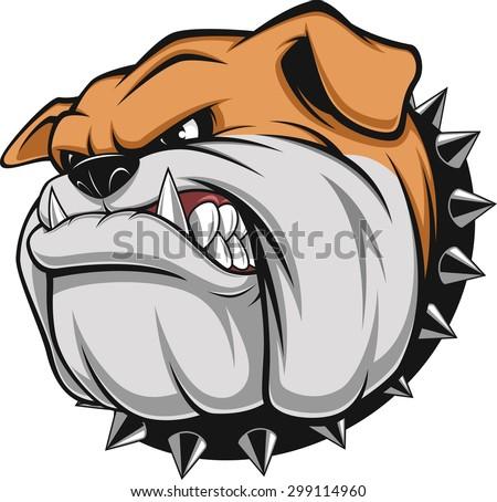 Vector Illustration Fierce Bulldog Wearing Cap Stock ...