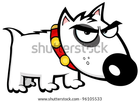 Angry Dog Bull Terrier - stock vector