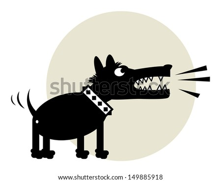 Angry Dog, vector illustration - stock vector