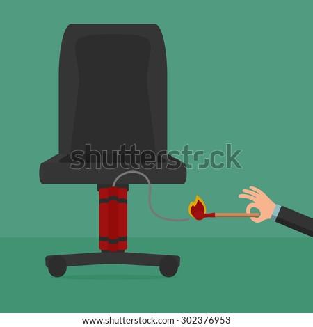Angry Employee Take Bomb Boss Cartoon Stock Vector 302376953 ...