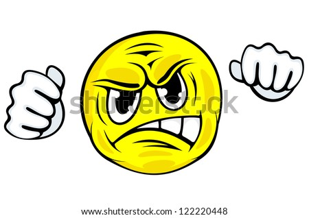 Upset Face Icon Angry Face Icon With Hands in