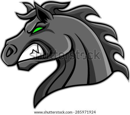 Angry Horse Head Logo Stock Vector Angry Horse Head