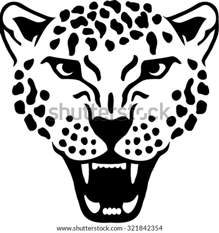 Leopard Silhouette Gepard Panther Stock Vector 321949235 - Shutterstock