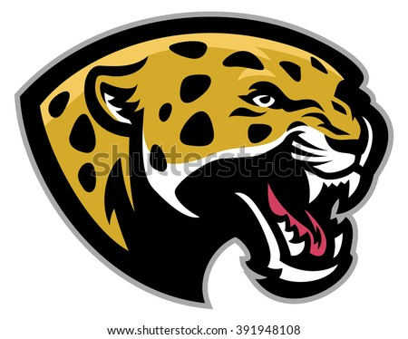 Angry Leopard mascot - stock vector