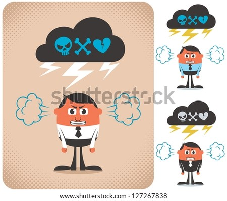 Angry Man - stock vector
