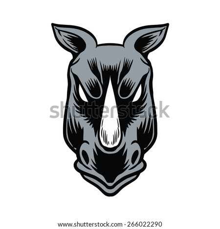 Rhino head stock images royalty free images vectors shutterstock angry rhino head ccuart Gallery