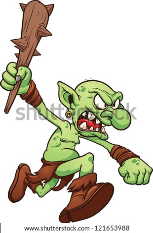 Clip Art Troll Clipart cartoon troll vector clip art illustration stock 143603104 angry running with simple gradients all in a single