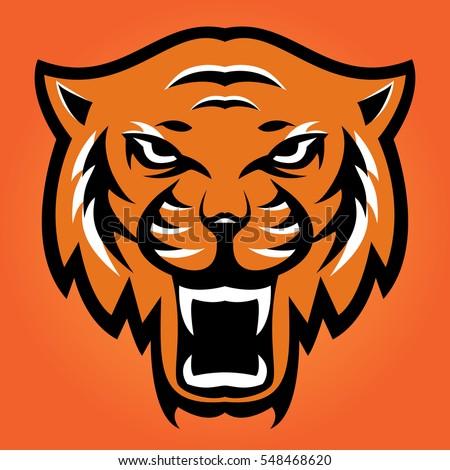 angry tiger sport mascot logo head stock vector 548468620 shutterstock rh shutterstock com Cartoon Tiger Mascot Tiger Mascot Clip Art Black & White