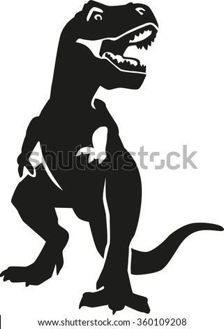 Angry tyrannosaurus - stock vector