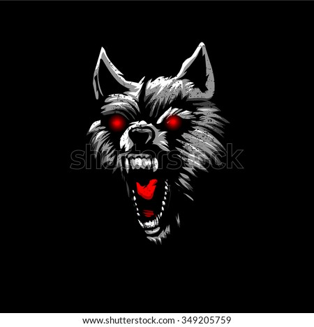 angry werewolf face-#27