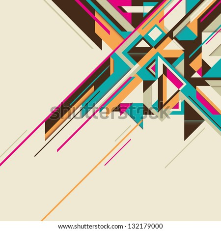 Angular abstract background. Vector illustration. - stock vector