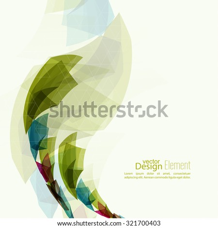 Angular geometric color shape. Abstract background with colored crystals, trellis structure. For cover book, brochure, flyer, poster, magazine, booklet, leaflet, annual report