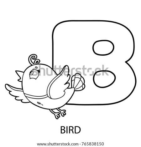 animal alphabet coloring page vector illustration stock vector hd