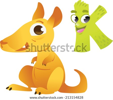 animal alphabet for the kids k for the kangaroo