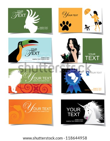 Animal and Veterinary Business Card and Icon Set