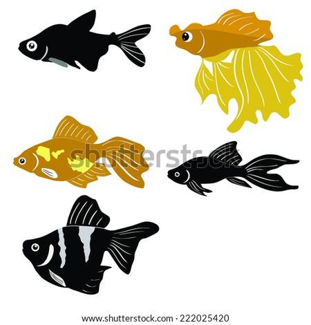 animal, aqua - stock vector