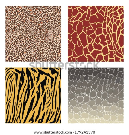 Animal color vector background, ready for cutting plotters
