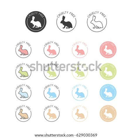 Animal Cruelty Free Symbol Can Be Stock Vector 629030369 Shutterstock