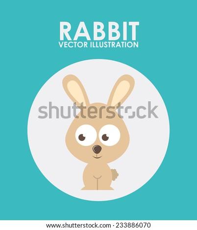 animal cute design , vector illustration - stock vector