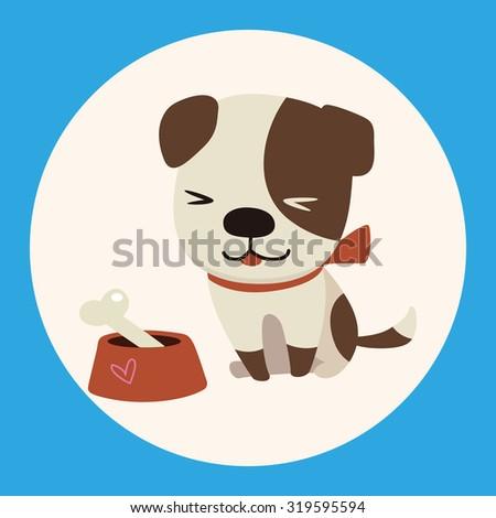 animal dog cartoon theme elements - stock vector