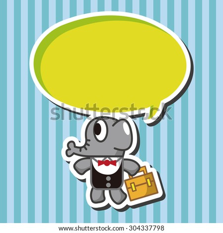 animal elephant worker cartoon theme elements