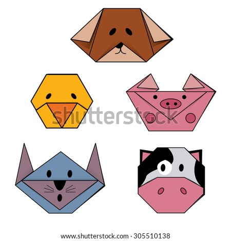 Animal Face Origami