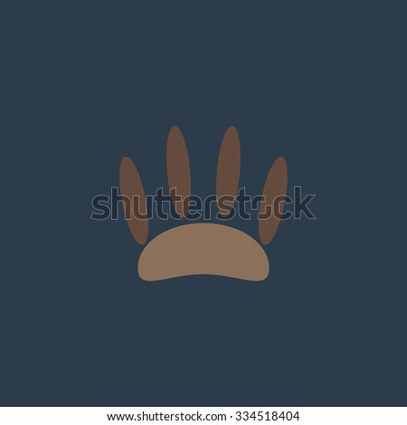 Animal footprint. Colorful vector icon. Simple retro color modern illustration pictogram. Collection concept symbol for infographic project and logo - stock vector