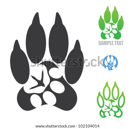 Animal footprint symbol - vector - stock vector