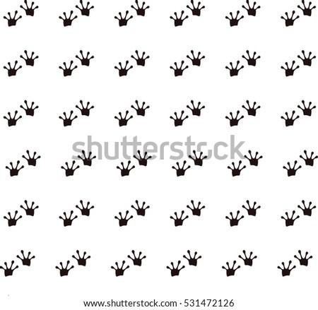 animal footprints frog stock vector royalty free 531472126 rh shutterstock com Snake Footprints Bunny Footprints