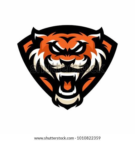 animal head tiger vector logoicon illustration stock vector royalty
