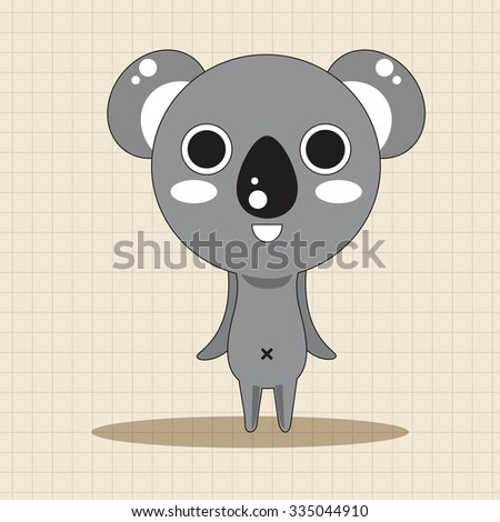 animal koala cartoon theme elements