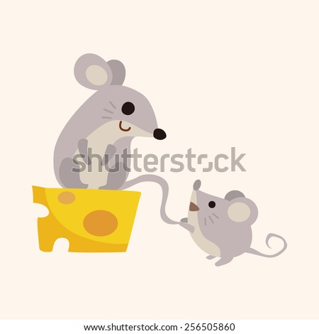 animal mouse cartoon theme elements - stock vector